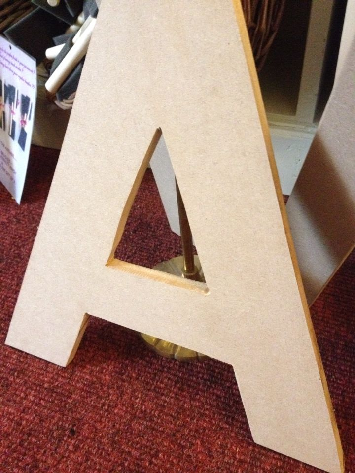 Large MDF letters ready to decorate only €8