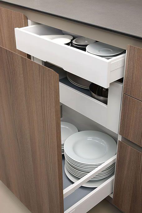 20 Modern Dish Storage Design Ideas For Luxury Kitchen Modern Kitchen Interiors, Modern Kitchen Cabinets, Modern Kitchen Design, Interior Design Kitchen, Kitchen Walls, Soapstone Kitchen, Kitchen Countertops, Kitchen Pantry Design, Diy Kitchen Storage