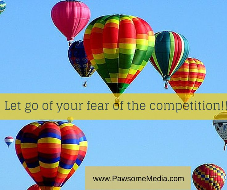 Don't fear your competition!