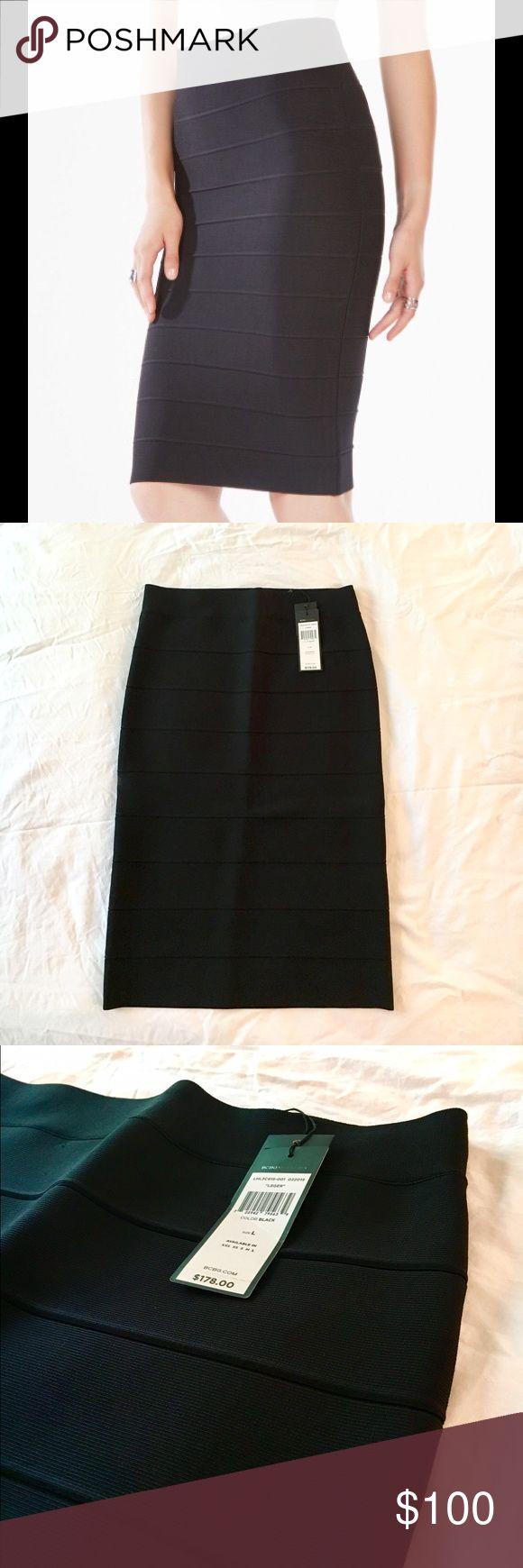 BCBGMAXAZRIA High-Waist Bandage Skirt BCBGMAXAZRIA bandage high-waist skirt has never been worn and still had tags attached. BCBG Skirts Midi