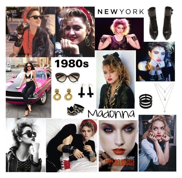 """""""Madonna style 80s"""" by alyants-stylist on Polyvore featuring мода, Madonna, Yves Saint Laurent, Chanel, Repossi и Chicnova Fashion"""