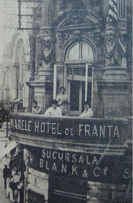 BUCURESTI -  Calea VICTORIEI , Hotel de FRANTA - 1910