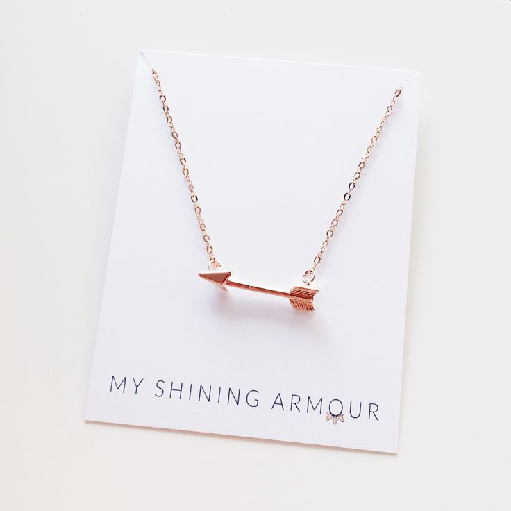 The Rose Gold Arrow Delicate Necklace €20  Also comes in Gold & Silver at www.myshiningarmour.com/necklaces/arrow-necklace