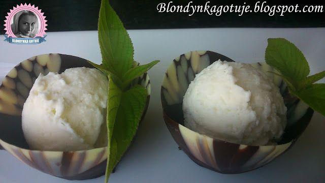 Blondynka Gotuje: Lody Kokosowe - (bez jajek)