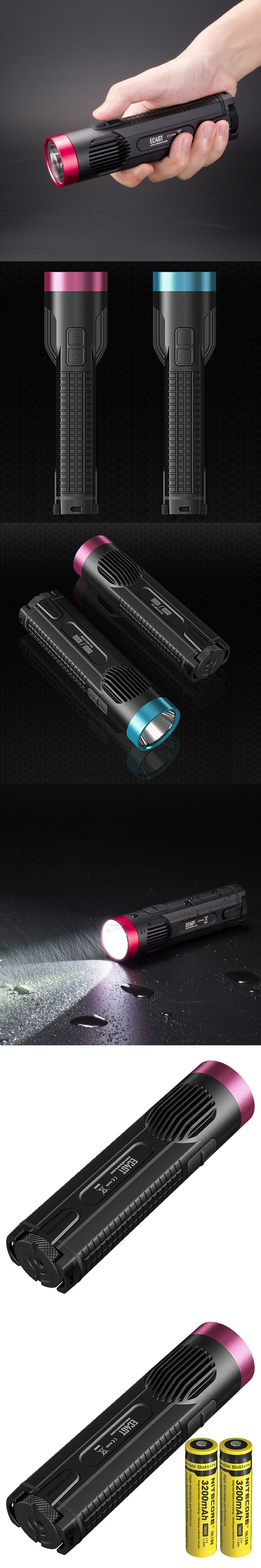 NITECORE EC4GT/Red LIMITED EDITION 1000 lm Flashlight Torch Camping Lamp Light for Diver+2*18650 batteries 3200MAH FREE SHIPPING