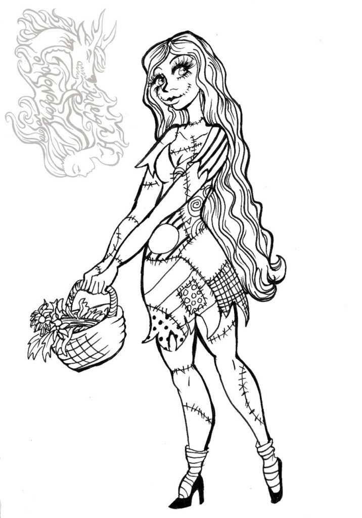 17 best images about movies and tv show coloring pages on for Sally nightmare before christmas coloring pages