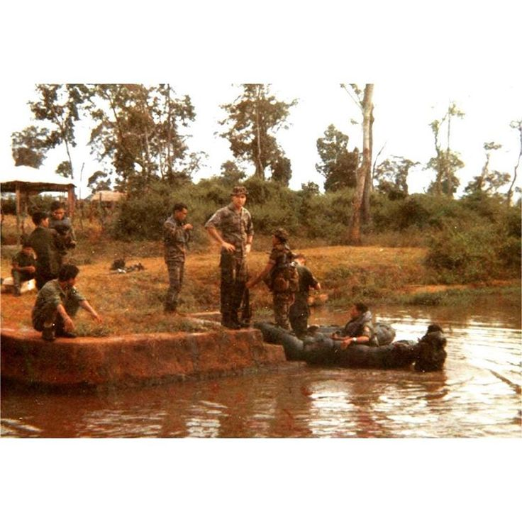 CCS recon team rehearsing amphibious insertion techniques using several RB-3 inflatables. By 1969, the NVA were so well-aware of SOG's airmobile insertion/extraction procedures, it became imperative they develop new methods. Among those were HALO and amphibious, but helicopters remained the most common. In the sequel to Gentle Propositions, I write about one such amphibious insertion into Cambodia via Brown Water Navy PBRs.