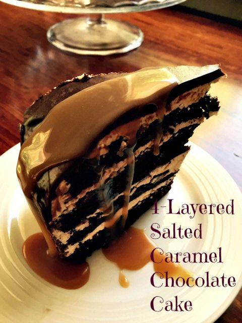 Layered Salted Caramel Chocolate Cake Recipe on Yummly ...