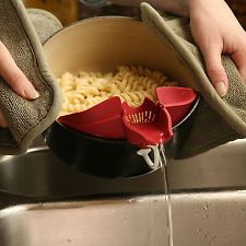 HT New Silicone Soup Funnel Kitchen Gadget Tools Water Deflector Cooking Tool