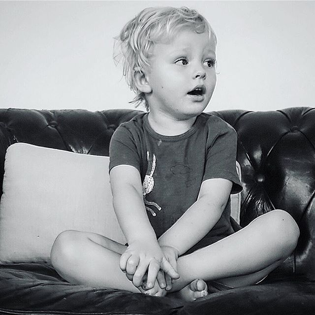 Baby Lucas in Black & White