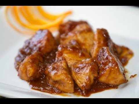 Pollo con Salsa de Naranja Estilo Chino Receta.  ༺✿Teresa Restegui http://www.pinterest.com/teretegui/✿༻