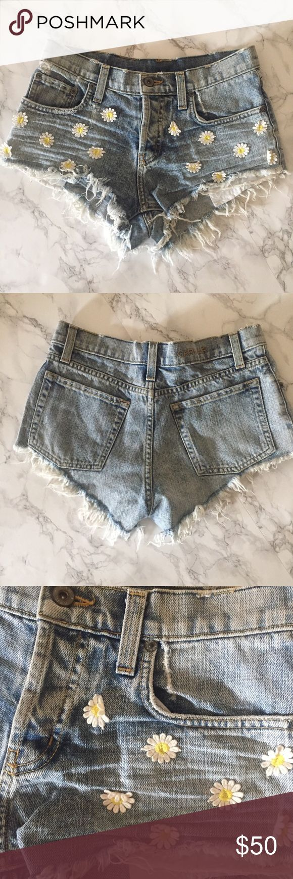 LF Carmar daisy shorts Super cute daisy denim shorts in perfect condition only worn once for a couple of hours Carmar Shorts Jean Shorts