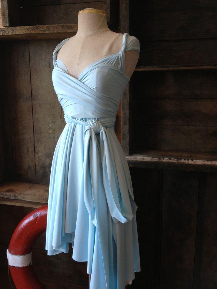 Seaside Aqua Octopus Infinity Wrap Dress- Bridesmaids, Wedding, Something Blue. $79.99, via Etsy.