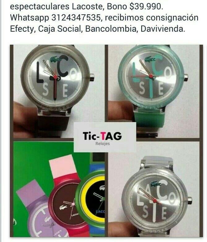 Tic-Tag Relojes y bonisimo, te traen varias referencias. Mas info x whatsapp 3124347535.