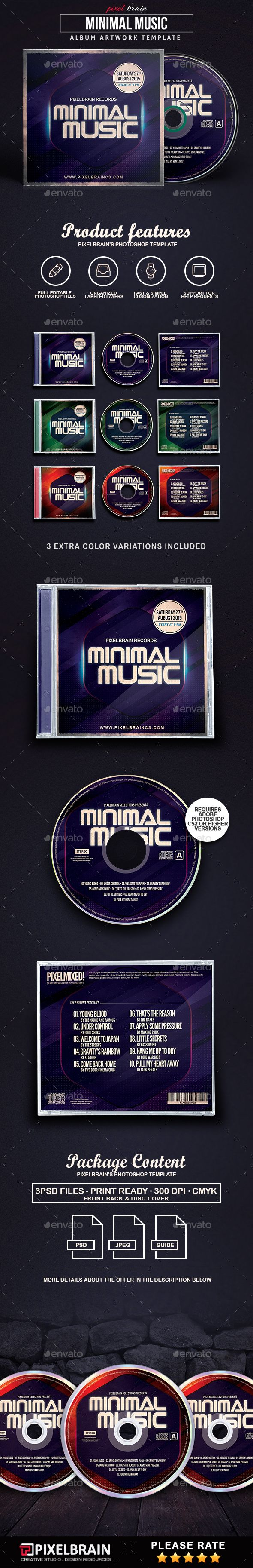 Minimal Music CD Album Artwork Vol. 1