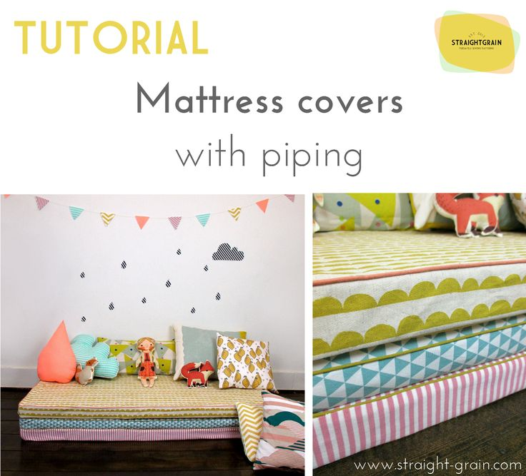 Tutorial Mattress Covers With Piping