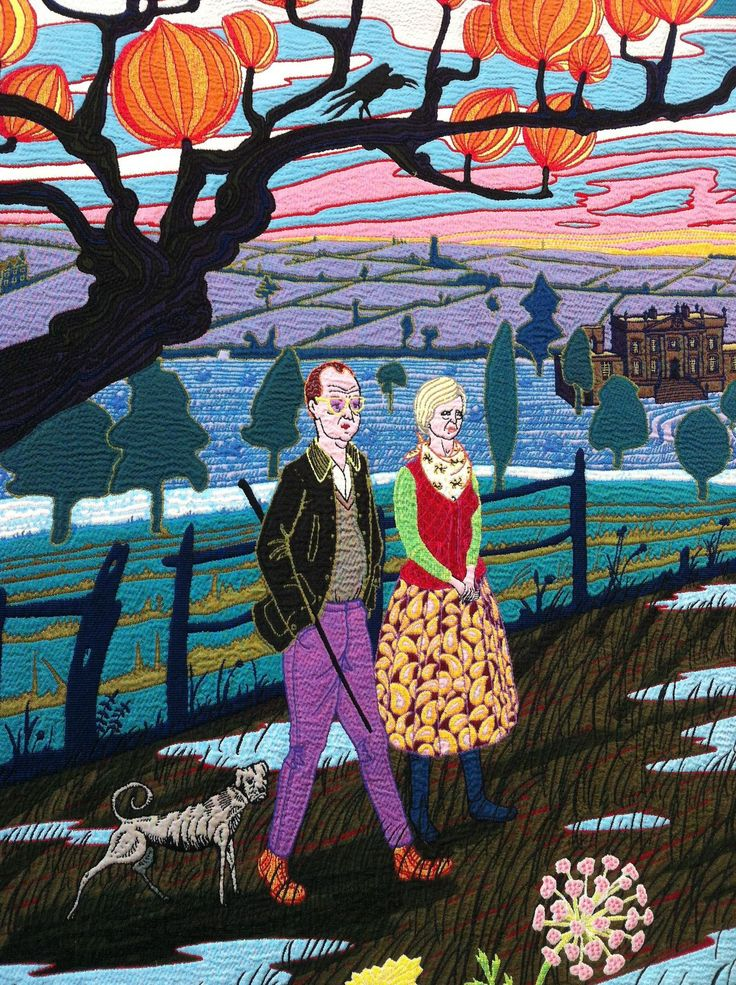 Details from The Vanity of Small Differences © Grayson Perry- tapestry