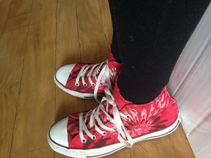 Pre - Owned Ladies Converse Chuck Taylor All Star Boots Size 6 - Hippy Chick
