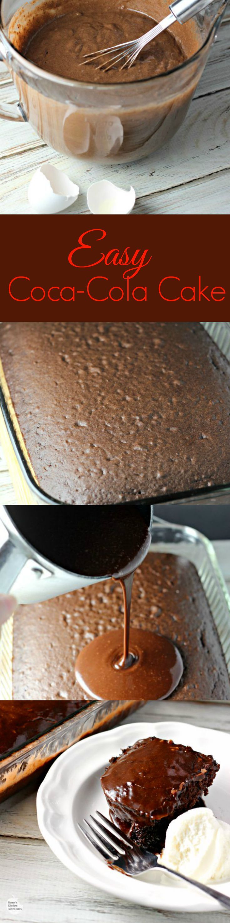 Easy Coca-Cola Cake | by Renee's Kitchen Adventures - Easy recipe for a chocolate cake dessert any day of the week! #EffortlessMeals #ad