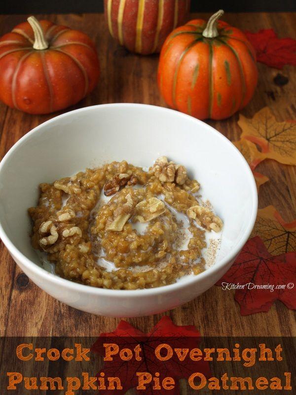 Pumpkin Spice Oatmeal In The Crock Pot Recipes — Dishmaps