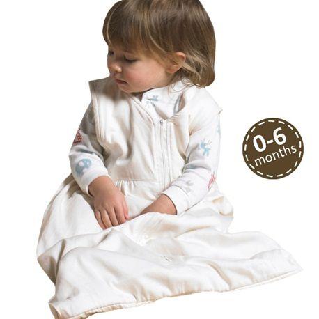 Organic Plush Sleeping Bag 3-9m | The Little Green Sheep