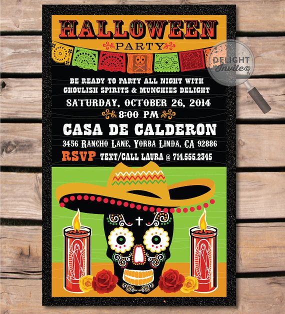 this is such a cool dia de los muertos halloween party invitation a must have - Halloween Party Rules