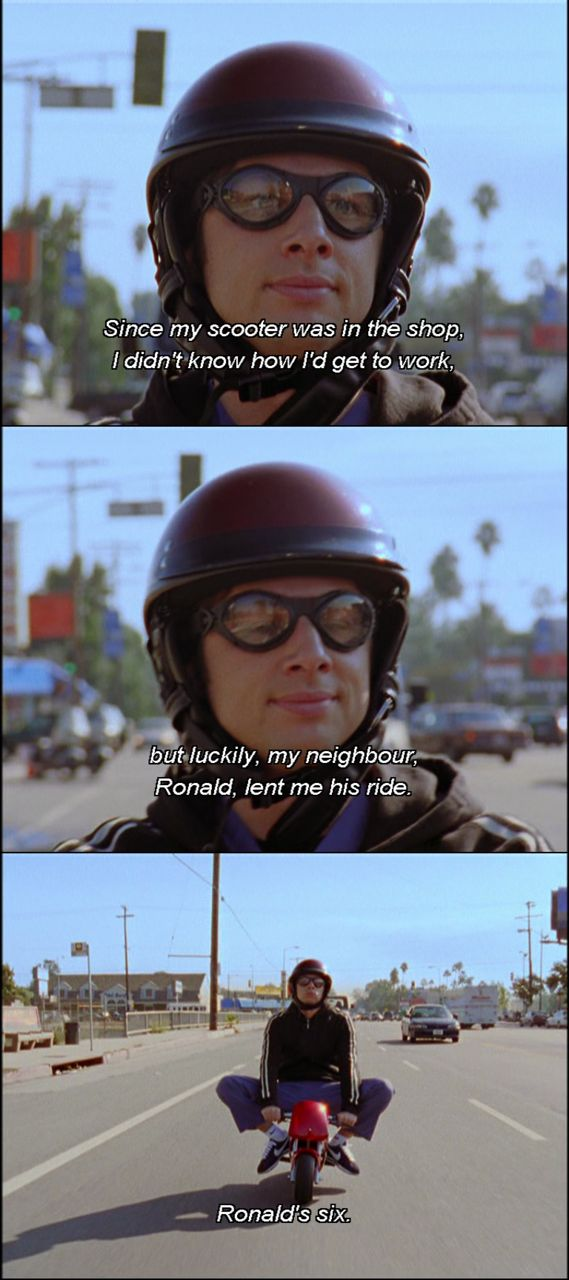 Ronald let JD borrow his ride while Sasha is in the shop...Ronald is six. #scrubs