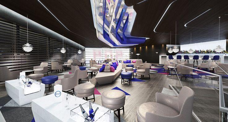 POPB BERCY  Relooking complet des points de vente restauration du palais des sports. Création de nouvelles entités.  Création d'une cuisine centrale, d'un restaurant commercial et d'un bar lounge.
