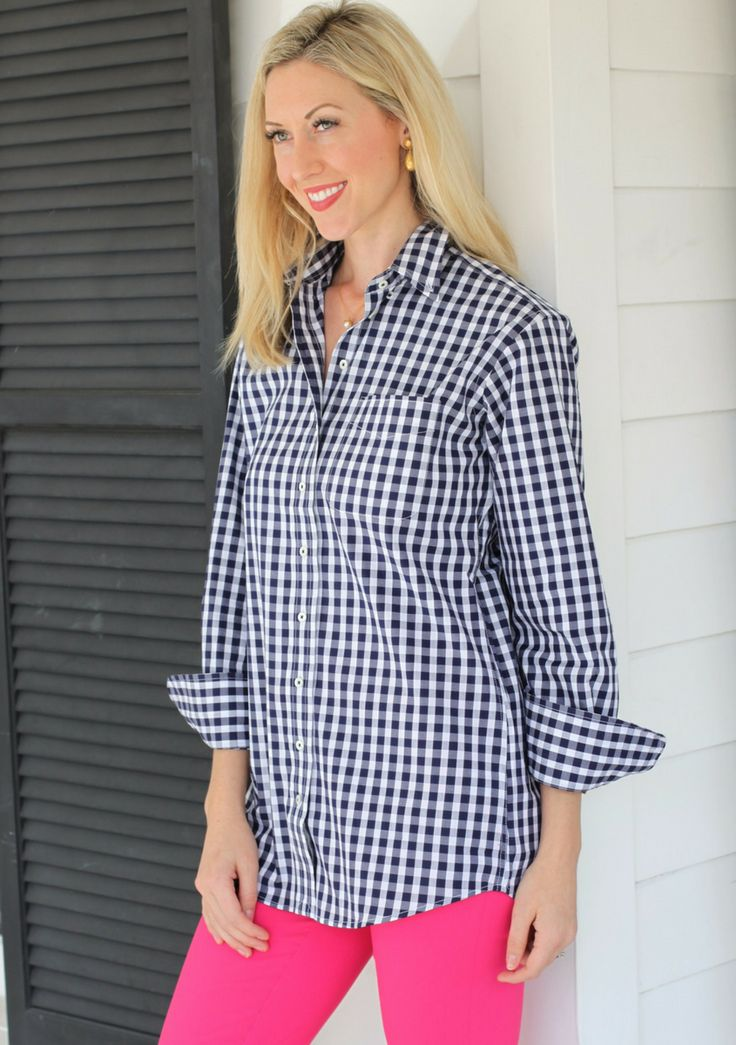Claridge & King Blue Gingham Button Down