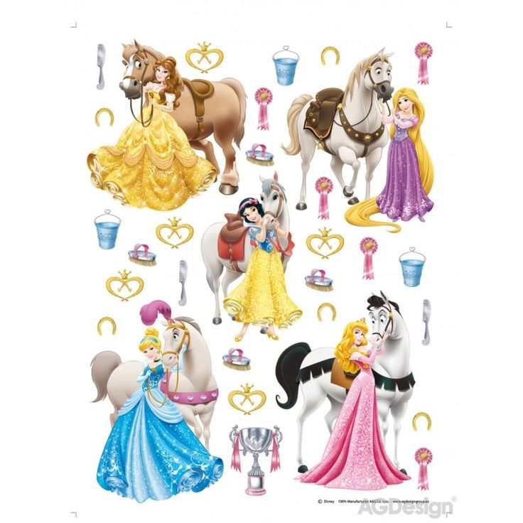 Hercegnők és lovak matrica falra