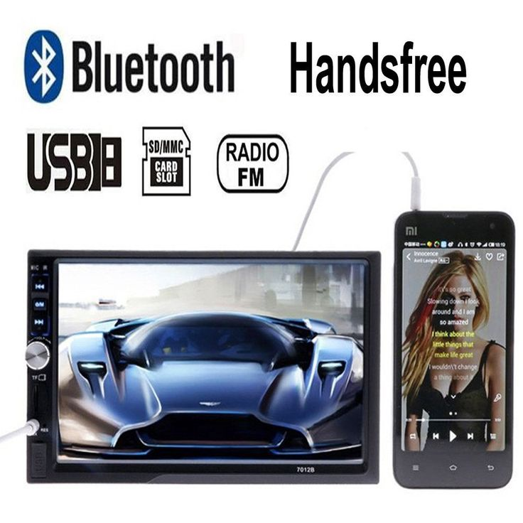 """KASIONVI 7''HD 2DIN Bluetooth Car Stereo Touch Screen MP5 Player Support Rear View Camera-input. 7"""" inch LCD Touch screen car radio player BLUETOOTH hands free 1080P movie,rear view camera 2 din car audio stereo mp5. Two way Video output:CVBS(NTSC/PAL/Auto system) with SD/MMC card Slot ,with USB 2.0 port. Support Rear View Camera, Handsfree,. Support the Video playback format of RM/RMVB/MPEG-4(AVI/IVX/Xvid/MPEG4)/WMV/H.263/MPEG-1/MPEG-2. DON'T SUPPORT GPS! No CD Room for the CD Player, No..."""