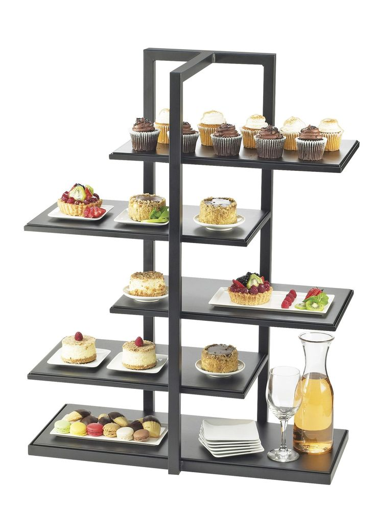 """Features:  -Durable design.  Product Type: -Tiered stand.  Pattern: -Solid color. Dimensions:  Overall Height - Top to Bottom: -36.5"""".  Overall Width - Side to Side: -28.5"""".  Overall Depth - Front to"""