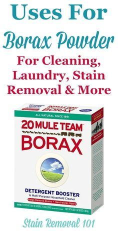'Uses For Borax Powder For Cleaning, Laundry, Stain Removal And More...!' (via stain-removal-101.com)