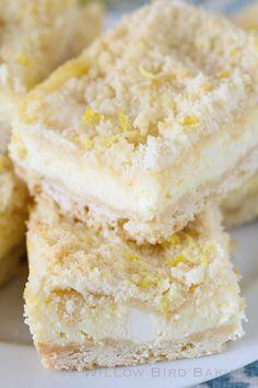 Lemon Shortbread Crumble Bars: The ULTIMATE Lemon Lover's Dessert! from @julieruble