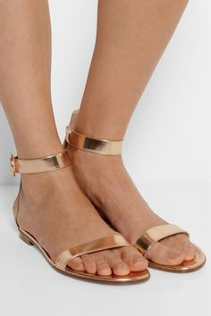 rose gold flat sandals - Google Search