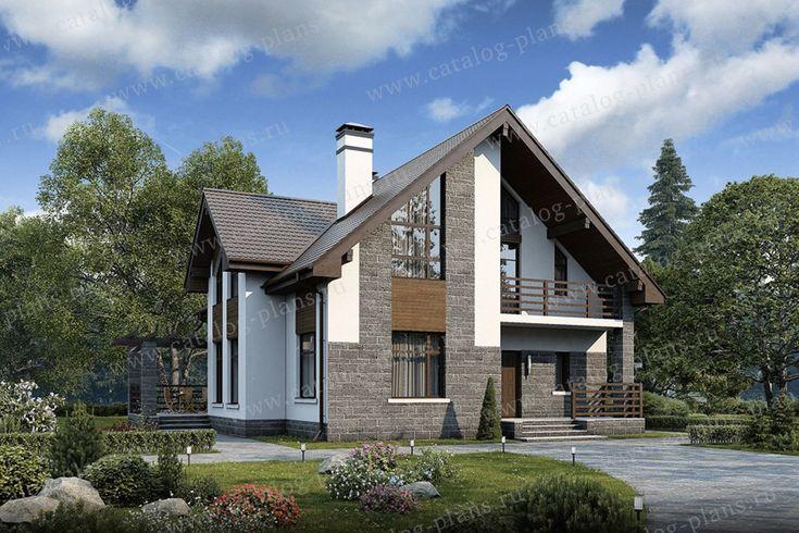 Проект жилой дом #57-00 материал - газобетон, стиль современный
