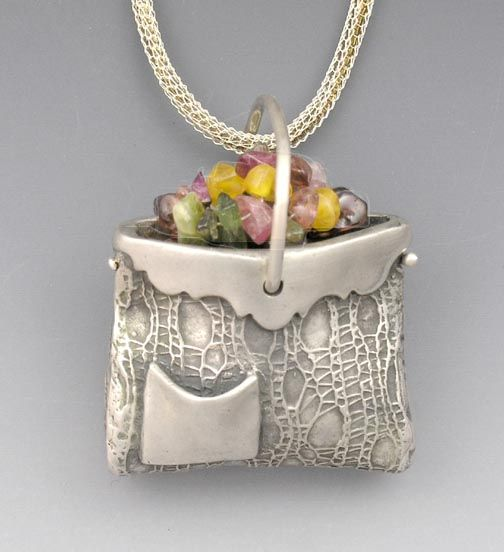 Metal Clay pendant by Hadar Jacobsen. Great website>lots of great pieces for sale.