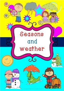 Seasons and Weather  Pack has 60 pages in total ! You can download my collage preview  ! ☺   Table of contents:  1.Seasons puzzle cards ( boys and girls )( b&w and color)     ( pages: 4- 7)  2. Seasons build the words mats (boys and girls )  ( b&w and color ) ( pages: 8-15)  3.What season is it ?