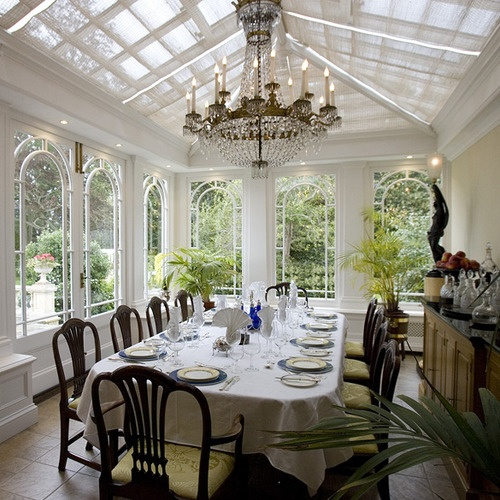 Conservatories Seem To Lend Themselves Naturally Become Beautiful Dining Rooms Combining The Alfresco Indoors