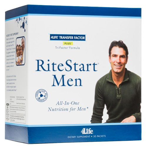 RiteStart® Men-Description  All-in-one nutritional pack that provides what men need for phenomenal performance, stamina, and health*  Primary Support: Immune, Healthy Aging, Antioxidant, Heart health, Male Health, Multivitamin & Mineral, Muscle, Bone & Joint, Overall Wellness* Secondary Support: Brain, Energy, Skin*