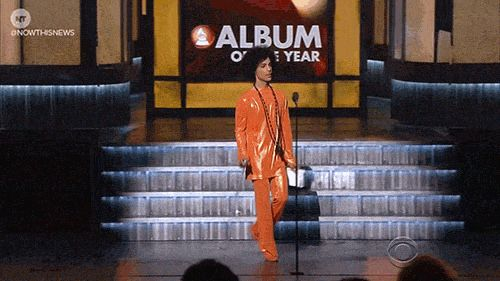 Hot GIF news prince grammys nowthis now this news nowthisnews the artist formerly known as prince