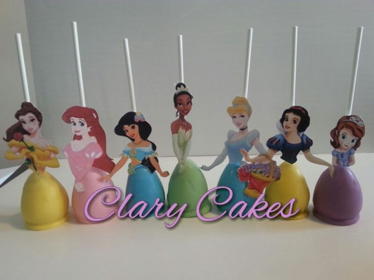 Disney Princess Cake Pops.