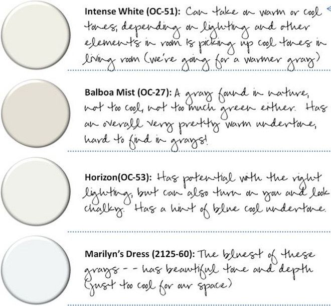 Best Benjamin Moore Neutral Colors explained. Benjamin Moore Intense White. Benjamin Moore Balboa Mist. Benjamin Moore Horizon. Benjamin Moore Marilyn's Dress.