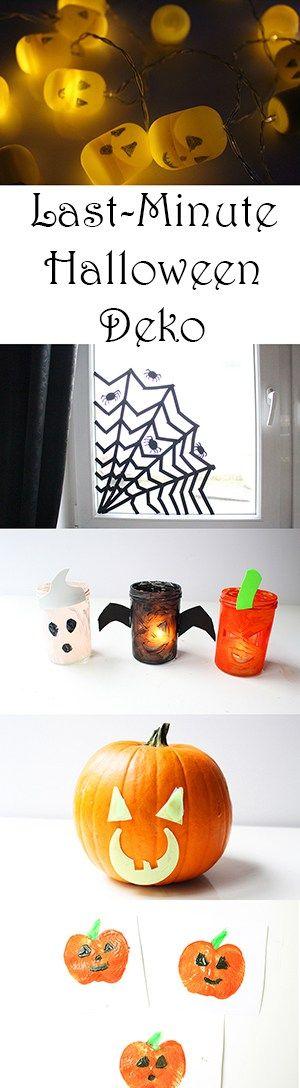 Last Minute Halloween Deko: viele tolle Ideen