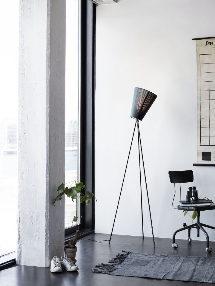 Set The Mood In Style With Oslo Wood A Trendy Floor Lamp With A Tripod Base And A Multi Directional S Decor Interior Design Wood Floor Lamp Modern Floor Lamps