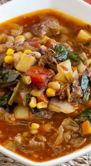 Hearty Beef Vegetable Soup..