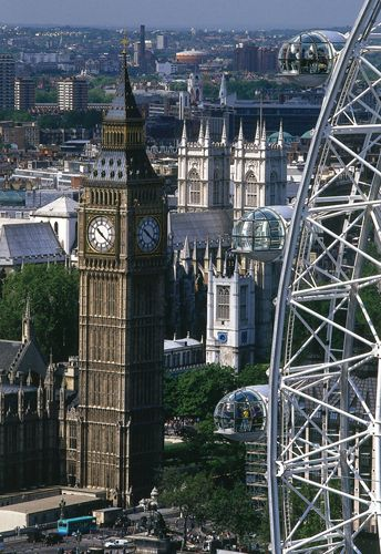 Fantastic shot of The London Eye, Houses of Parliament and Big Ben