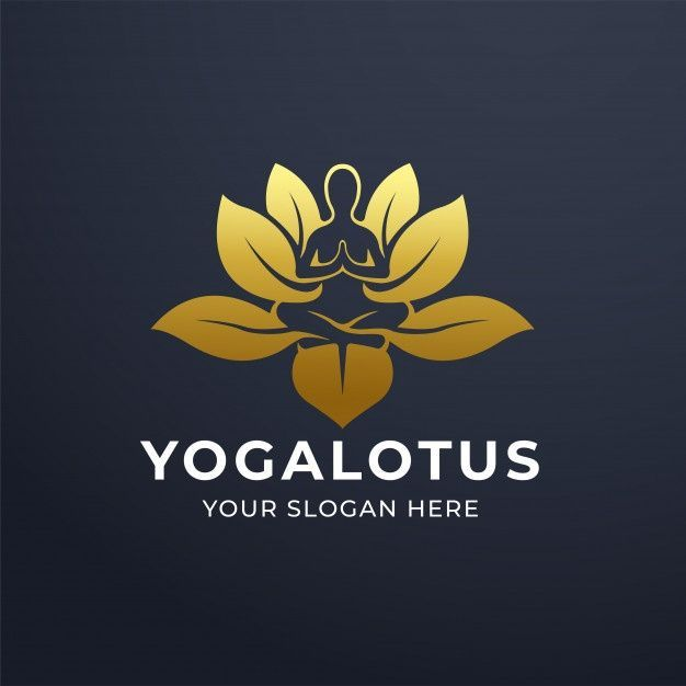 yoga meditation with lotus flower logo design yoga meditation with lotus flower logo d prem in 2020 lotus flower logo design flower logo design lotus flower logo yoga meditation with lotus flower logo