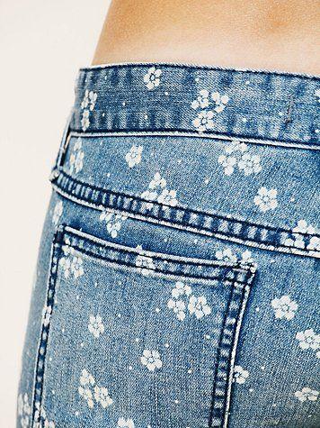 Tiny Floral Print DIY - Ditsy Floral Ankle Crop