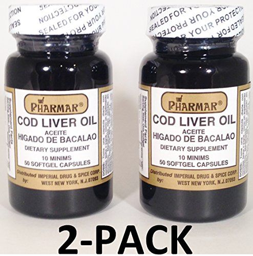 Aceite De Higado De Bacalao Capsules 50's Cod Liver Oil 2-PACK *** To view further for this article, visit the image link.